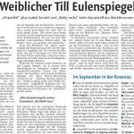 Weiblicher Till Eulenspiegel - Winnender Zeitung 06.08.2012